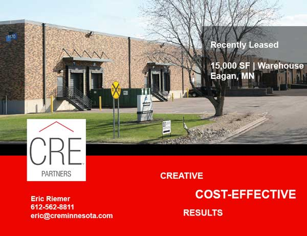 Recently Leased – 1170 Eagan Industrial