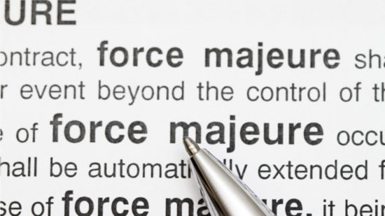force majeure, warehouse, office, commercial, leases