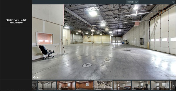 warehouse space, marketing, interactive tour