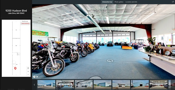 warehouse space, marketing, 3d tour