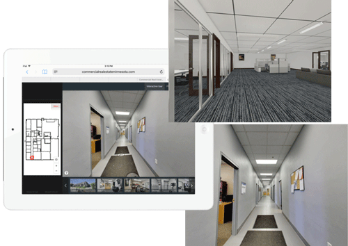 commercial property, 3d virtual tour, rendering, marketing, minnesota