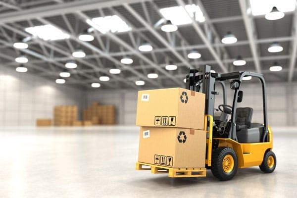 distribution warehouse forklift